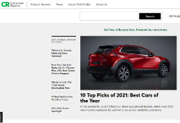 Consumer Reports homepage
