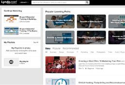 Linkedin Learning homepage