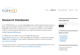 Clevnet Databases homepage