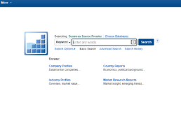 Business Source Premier Homepage