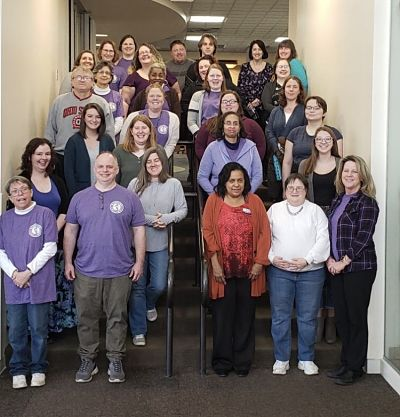 Library staff group photo